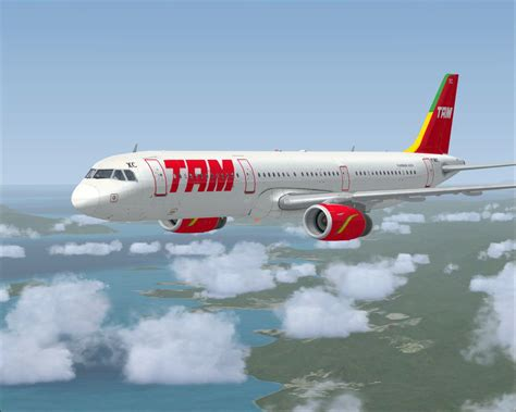 TAM Airlines registration PT-MXC Airbus A321 for FSX