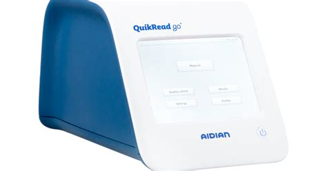 Compact point-of-care instrument - QuikRead go | Aidian